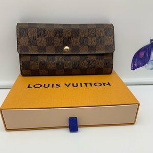 💯Auth Louis Vuitton DE Sarah Long Wallet